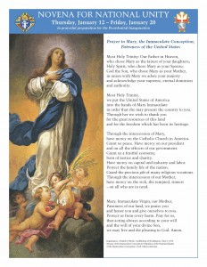 Click here for Novena for National Unity